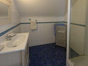 salle d'eau chambre verte